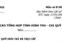 Báo cáo tổng hợp tình hình thu chi quỹ BHXH