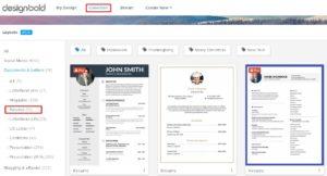 Tìm các mẫu Resume có sẵn