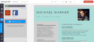 Thêm text hay thay hình ảnh trên Resume
