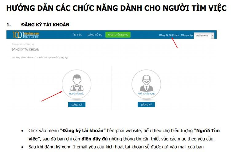 Những cách tìm việc làm hiệu quả trên 1001vieclam.com