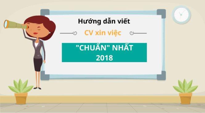 Hướng dẫn viết CV xin việc 2018