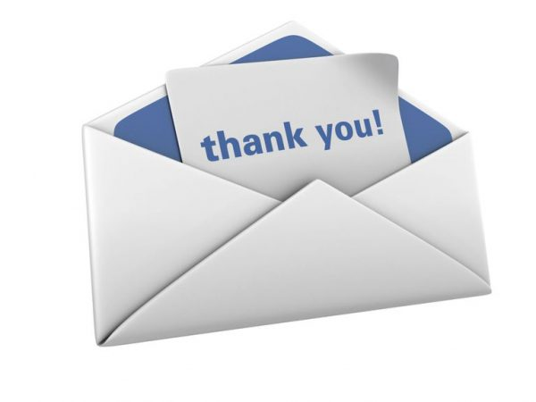 Mẫu thư cám ơn nhà tuyển dụng sau phỏng vấn