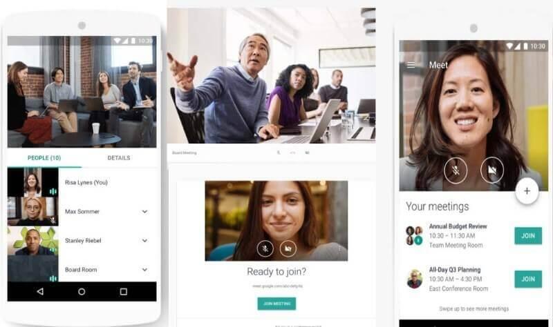 Ứng dung Google Hangouts Meet